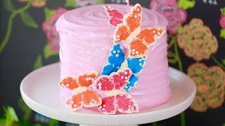 White Velvet Cake with Strawberry Buttercream Frosting - Gemma's Bigger Bolder Baking Ep 133