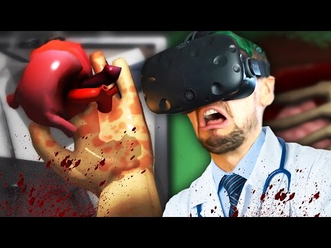 THAT'S NOT SUPPOSED TO BE THERE! | Surgeon Simulator VR #1 (HTC Vive Virtual Reality)
