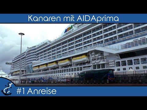 Kreuzfahrt-Vlog - Kanaren und Madeira mit AIDAprima 2018 #1 Anreise und Auslaufen