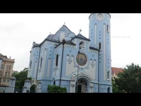 Bratislava  - The Blue Church & Abandoned Soviet Hospital on the Sienkiewiczova in  Slovakia 01