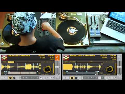 Turntablist Legend DJ Craze Routine Tracktor Pro and Kontrol X1 Gold Technics Turntables IFDKpF63VRk 8