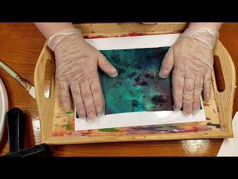 Tie Dye Paper Transfer | Kid Friendly Art
