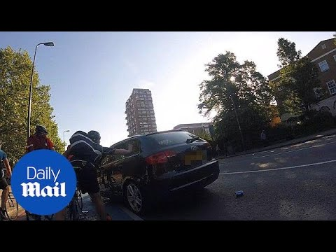 Driver In Allegedly Stolen Car Aggressively Rams Cyclists In London