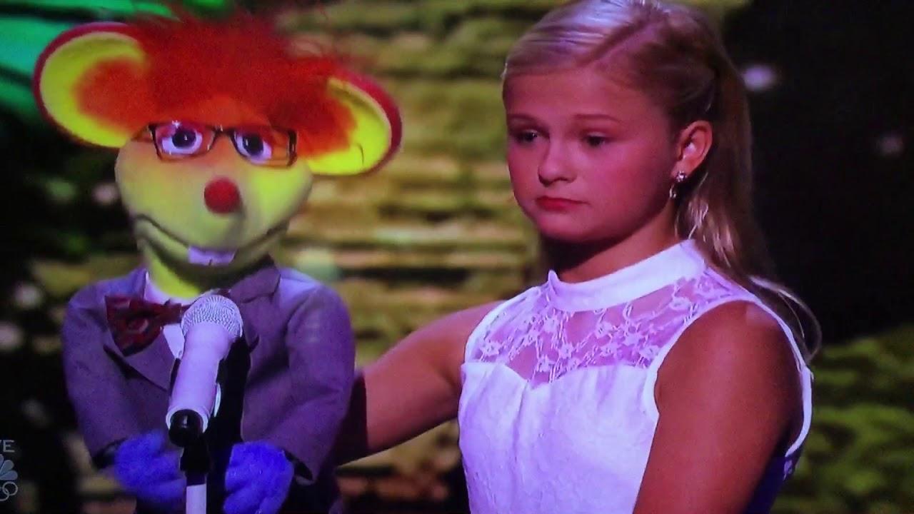Americas got talent 2017 oscar - Darci Lynne And Oscar The Mouse Sing To Mel B On Americas Got Talent