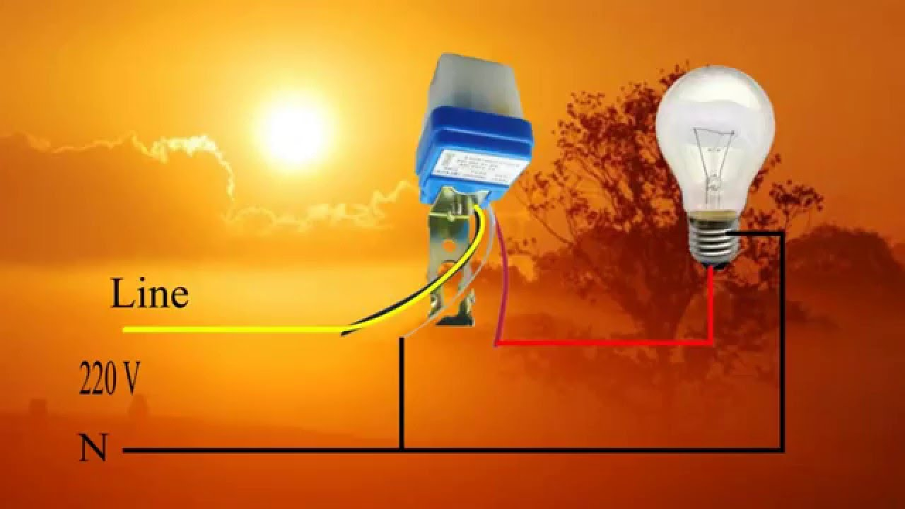 การต่อสวิทซ์แสง โฟโต้ สวิทซ์ how to use Photoelectric ...