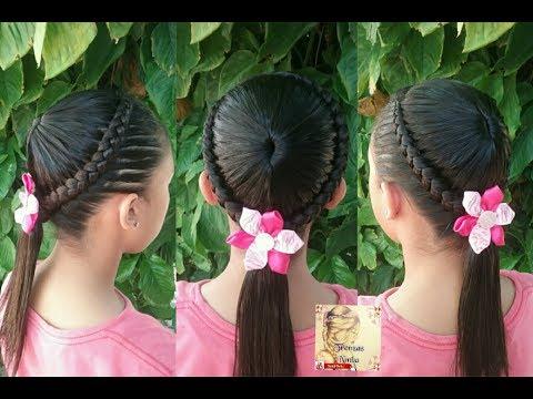 Peinado para ni as trenza corona f cil y bonito trenzas - Peinados bonitos para ninas ...