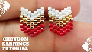 Chevron Earrings DIY Tutorial