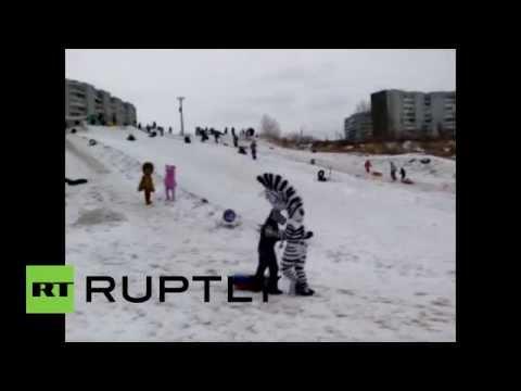 Герои мультфильмов избили пьяного хулигана в Красноярске