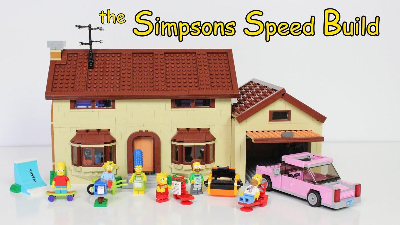 Lego the simpsons house 71006 speed build time lapse youtube - Lego construction maison ...