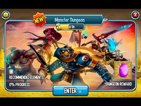 Monster Legends, All monsters in one dungeon challenge, no items used