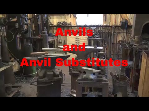 Blacksmithing anvils and anvil substitutes