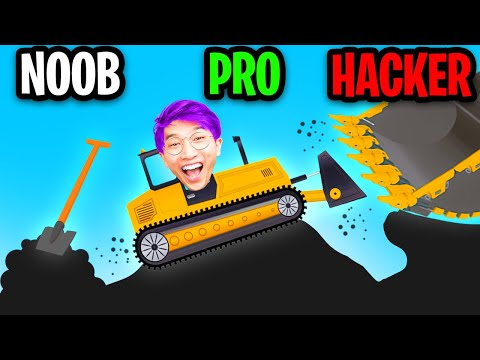 NOOB vs PRO vs HACKER In BUILD ROADS APP GAME! (ALL LEVELS! *AMONG US IMPOSTOR ATTACKED US!*)