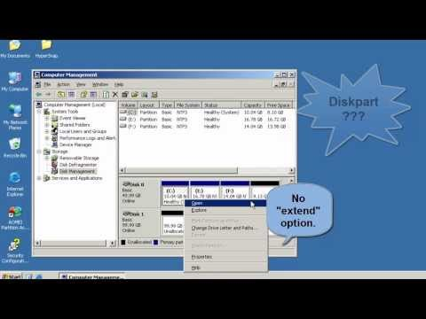 How to Merge Unallocated Space to C Drive Server 2003.mp4