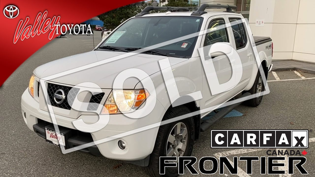 sold used 2012 nissan frontier pro 4x 4wd for sale at valley toyota in chilliwack b c 18532b youtube youtube