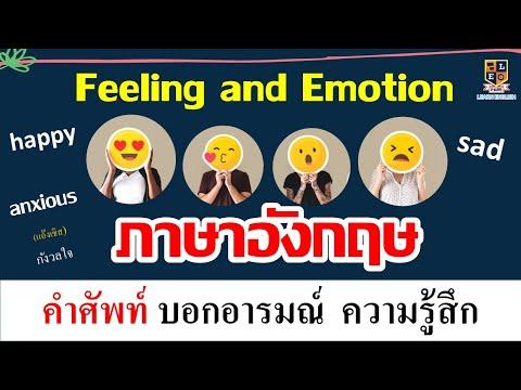 ฝึกพูดภาษาอังกฤษ เกี่ยวกับความรู้สึก และอารมณ์ (Feeling and Emotion)