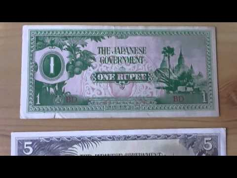 WW2 Money of Japan - Banknotes of the Japanese Government