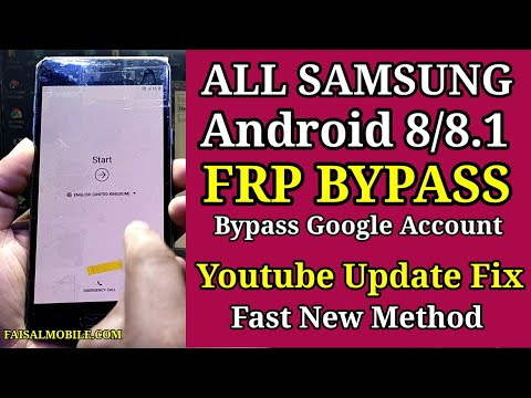 New Method 2021 All Samsung Android 8.0 | 8.1.0 FRP Bypass Google Account, Youtube Update Fix