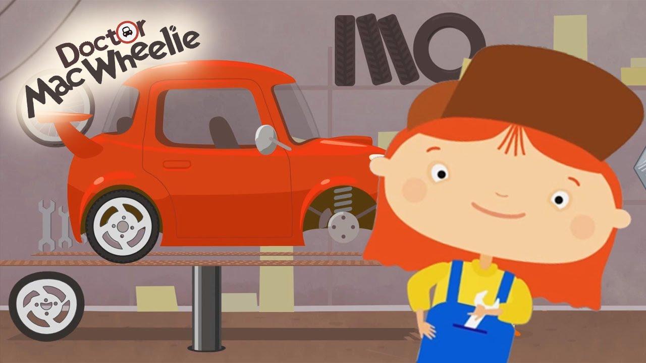 Cartoni animati per bambini dottoressa macwheelie l auto