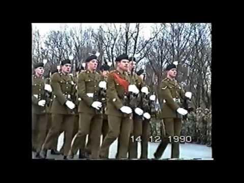 Military parade in West Berlin. December 14, 1990. Platz des 4. Juli.