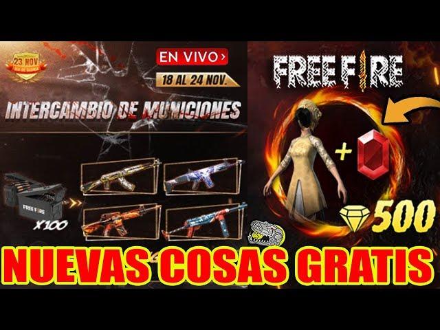 🔴 Nuevas Cosas GRATIS y Nuevo Skin Asia Dorada!! - FREE FIRE - Directo con Copy!!!