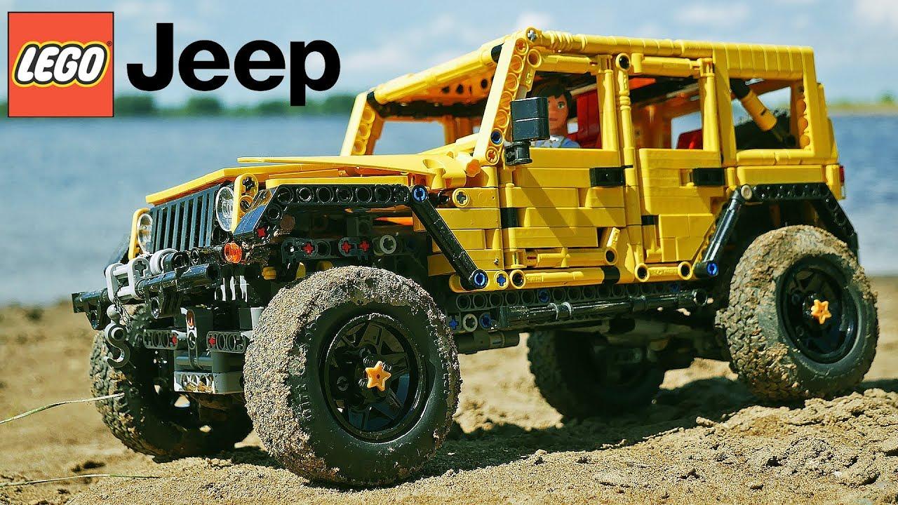 Lego Technic Jeep Wrangler >> LEGO Technic JEEP Wrangler Unlimited JK / Madoka / with SBrick - YouTube
