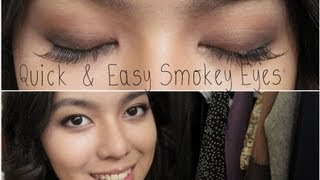 ♡ No Sweat, Super Quick & Easy Smokey Eyes! ♡ Thumbnail