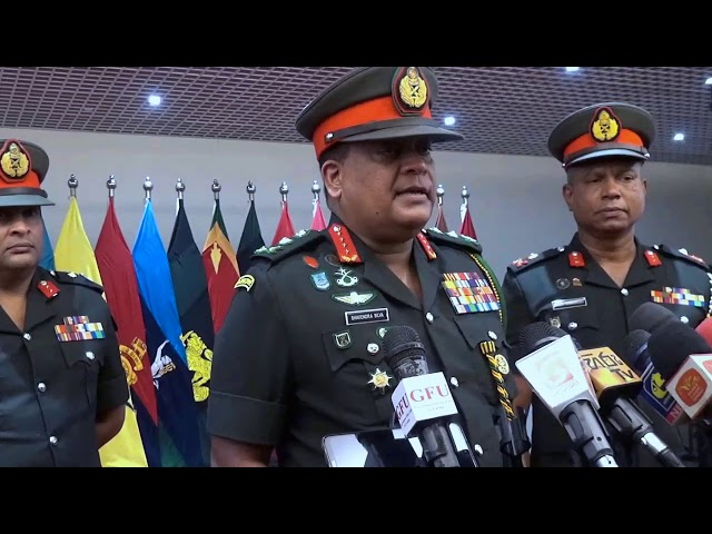 General Shavendra Silva ,CDS & Commander of the Army Voice cut @ AHQ - 07.01.2021