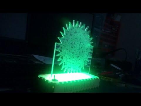 laser cut led lamp build
