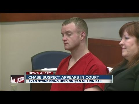 Carjacking suspect Ryan Stone appears in court