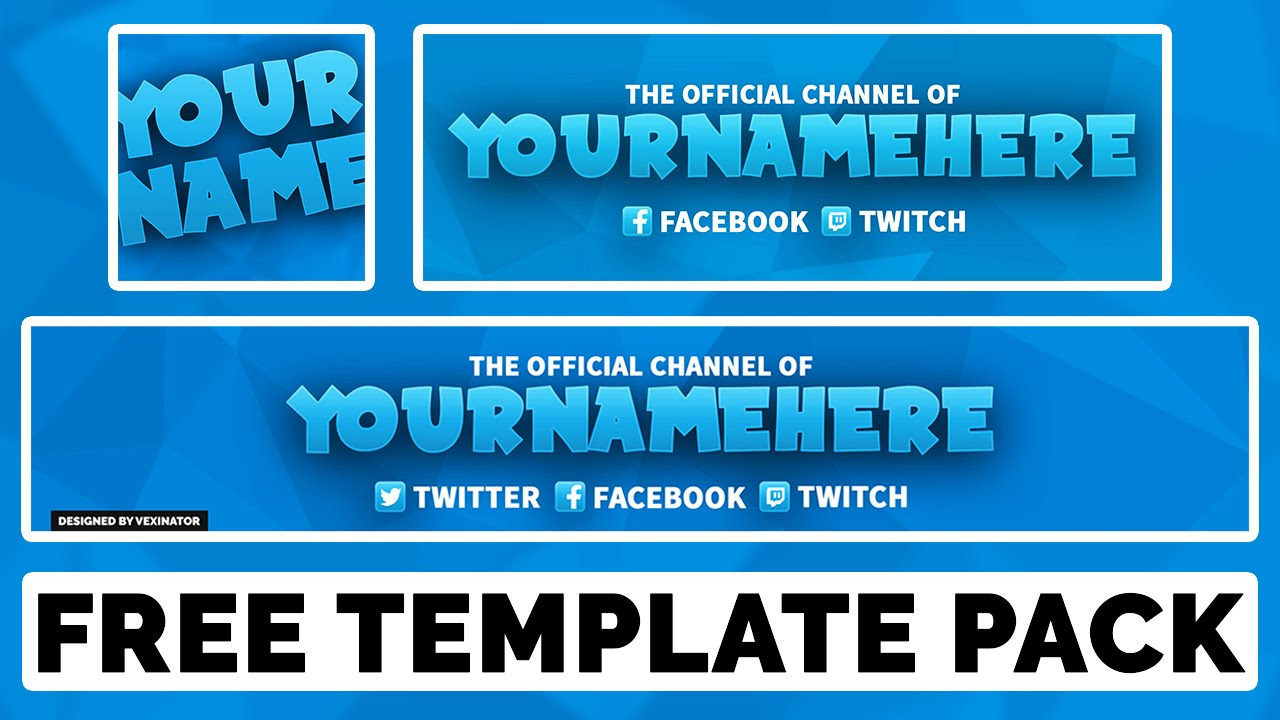 Free Photoshop Template | Simple Multi-Colour Revamp (YouTube Banner ...