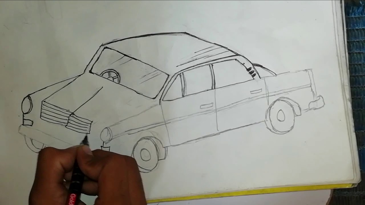 A car Drawing / for 6-7-8 years old child