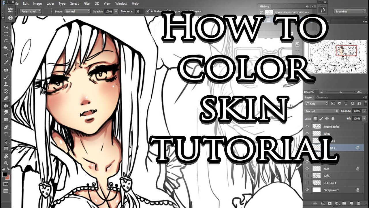 How to color anime skin tutorial photoshop youtube baditri Image collections