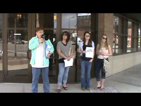 Bank of America Protest Downtown Kalamazoo, MI- May 8, 2013