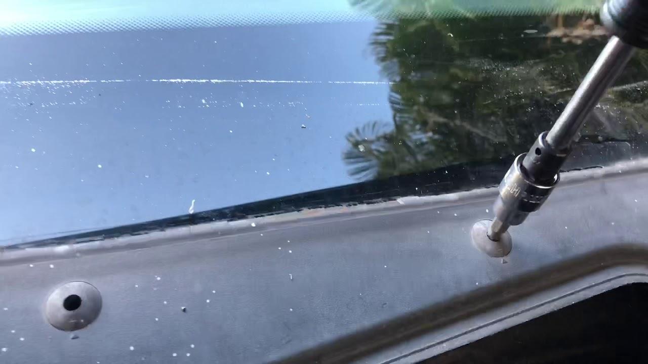 BMW e60 528i windshield cowl cover / rain tray install
