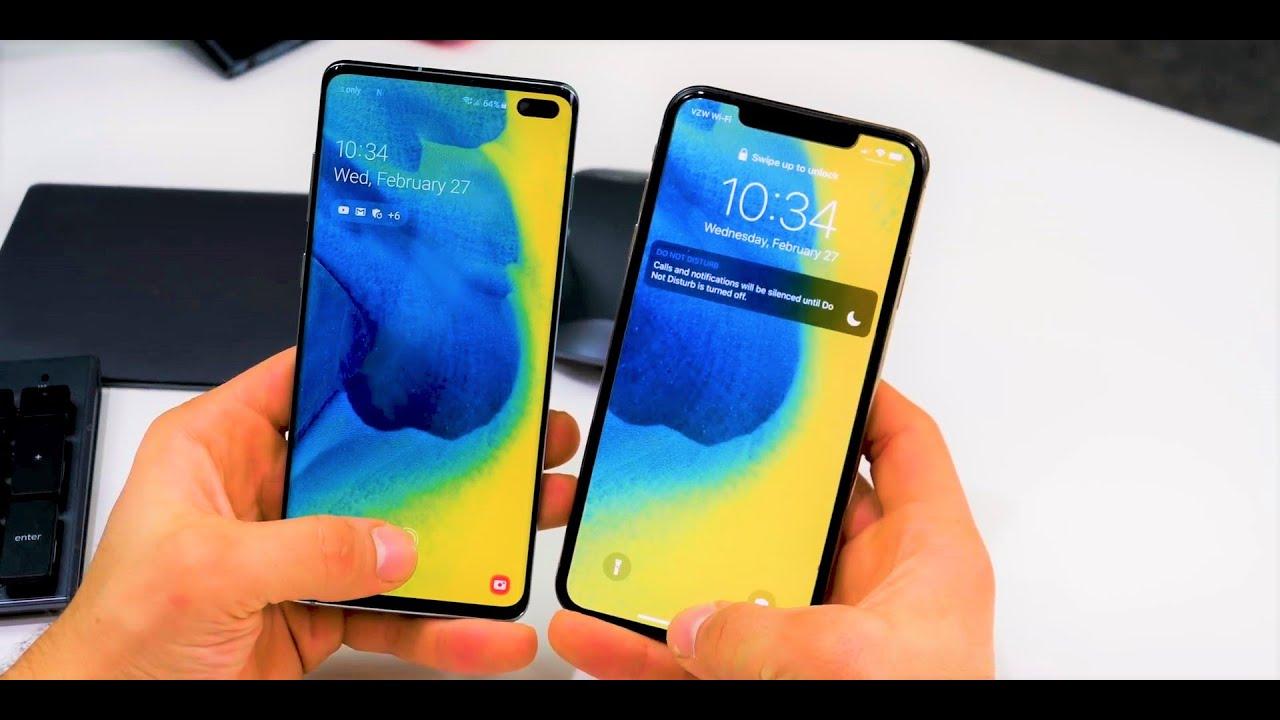 Samsung s10 vs iphone xs max gsmarena