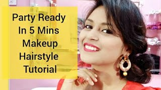 Party Makeup Tutorial Quick Party Hairstyle Tutorial Step by Step Guide. Party Ready In 5 Minutes.