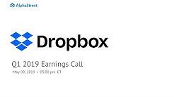 DBX Stock | Dropbox Q1 2019 Earnings Call