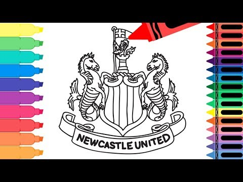 How To Draw Newcastle United FC Badge - Drawing The Newcastle Logo