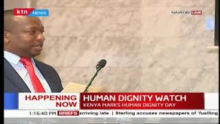 Mike Sonko speaks during the human dignity watch :Dignity day in Kenya