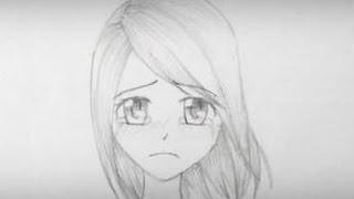 How to Draw a Sad Manga Girl Face