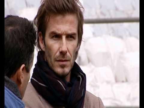David Beckham at new Olympic stadium