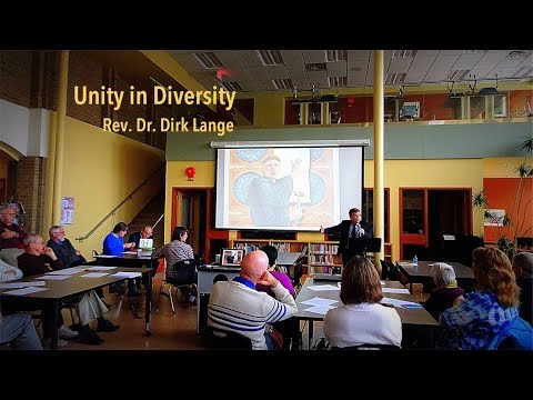 """Unity in Diversity"" - Reformation lecture by Dr Dirk Lange"