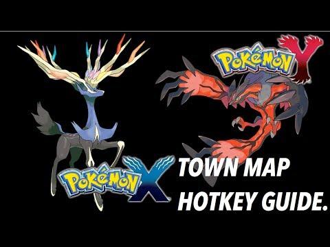 Pokemon X & Y - Map Hotkey Guide on