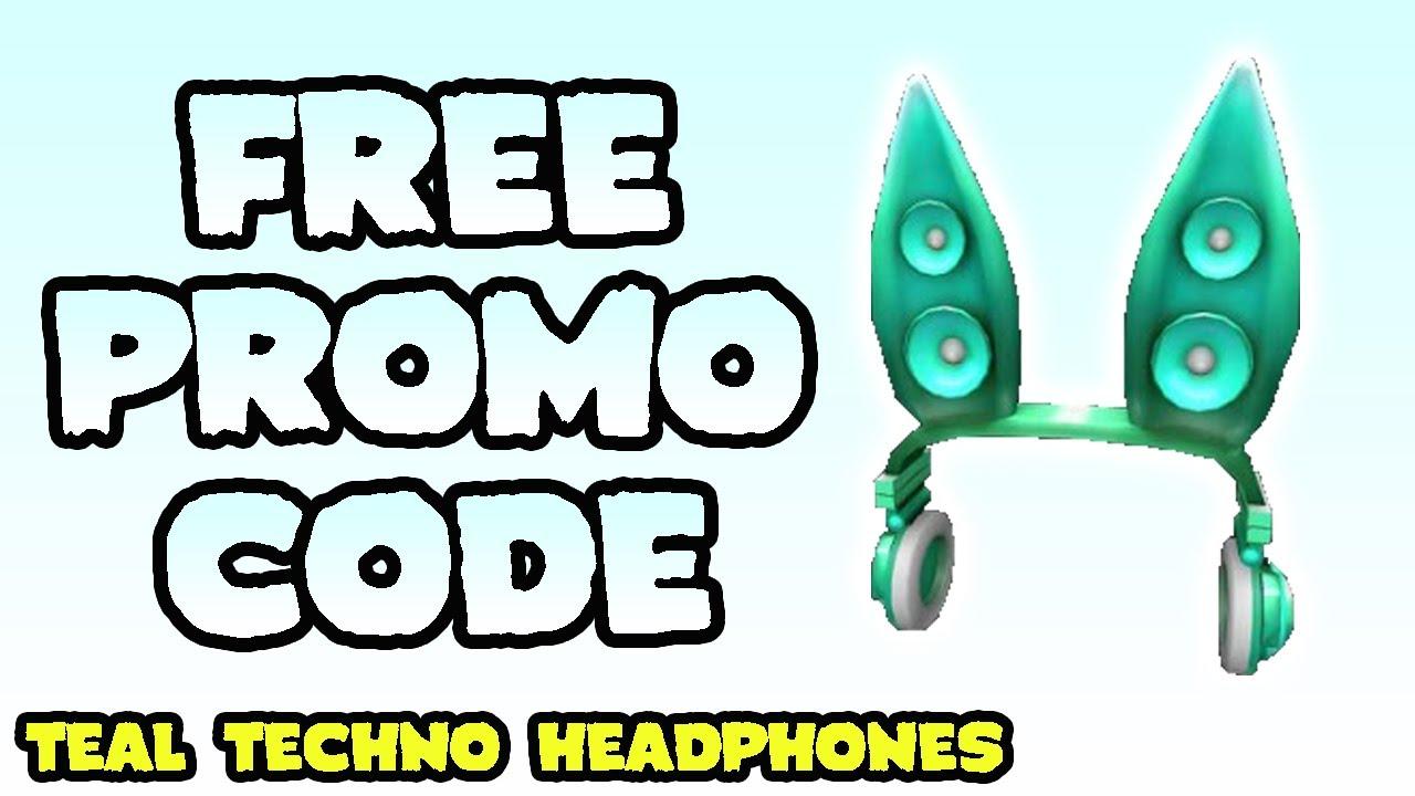FREE PROMO CODE How to get Teal Techno Rabbit Headphones Roblox