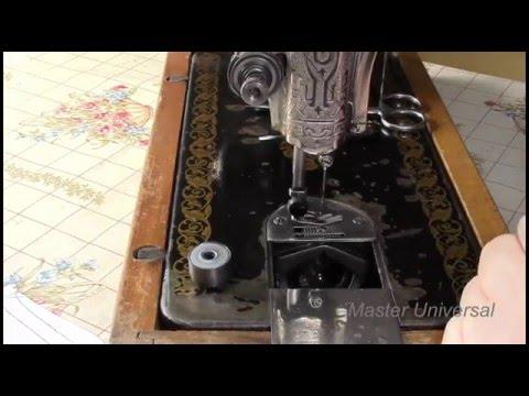 Подольская машина. Как отрегулировать петлистую строчку. Видео № 152.