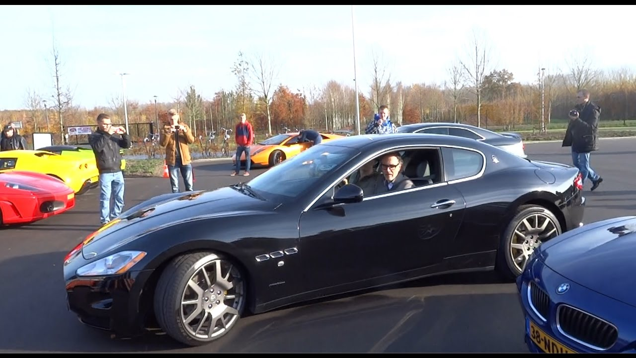 Maserati GranTurismo Fast Acceleration With Tire Spin