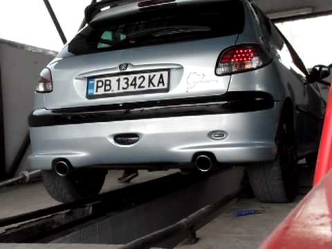 206 gti dual exhaust 55mm.mp4 - youtube