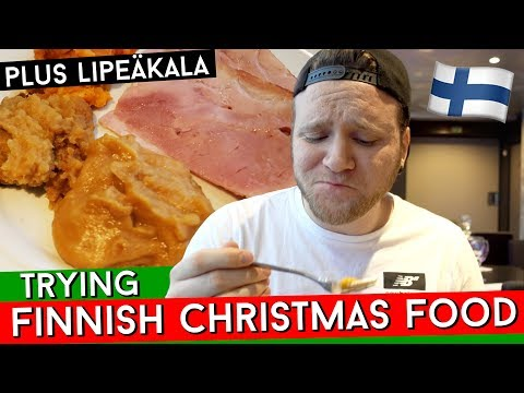 TRYING FINNISH CHRISTMAS FOOD