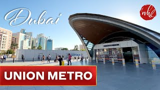 Union Metro Station Dubai | Deira Street Walk 4K