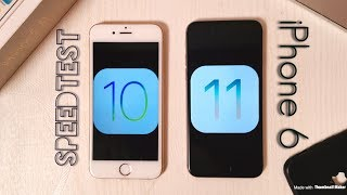 iPhone 6 iOS 10.3.3 vs iOS 11.2 Speedtest , Benchmarking Test